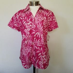Erika Pink Blouse shirt, Top Size S.